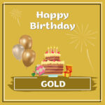 Gold Birthday Surprise