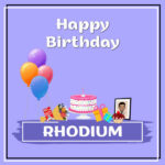 Rhodium Birthday Surprise