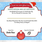 Being NICE Santa's Certificate – Christmas Gift