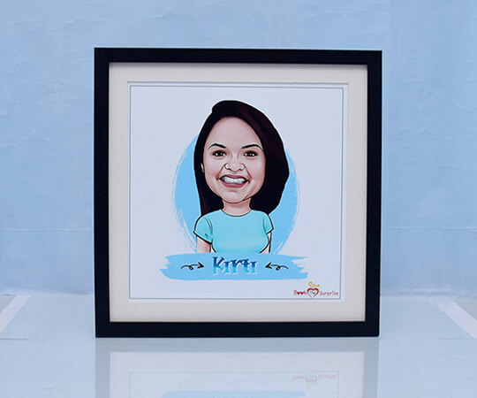 Caricature frame