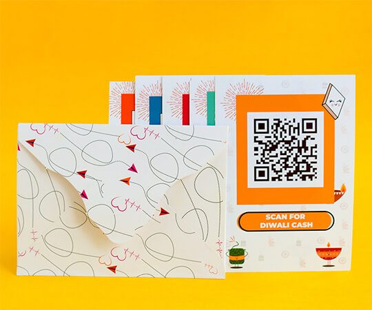 Diwali QR Greeting Cards