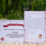 Valentines day love letter and certificate 2