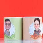 Couple caricature mug 2