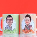 Couple caricature mug 1