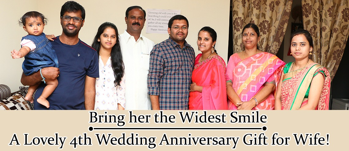 4th wedding anniversary gift for wife