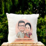 Caricature Couple Cushion 2