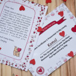 Valentines day love letter and certificate 4