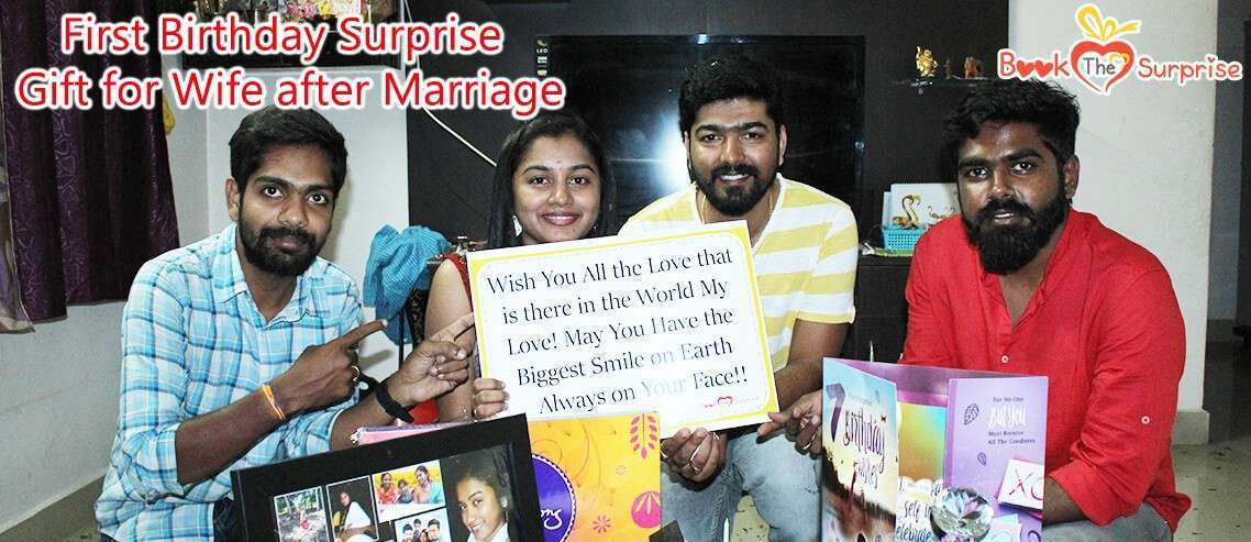 first birthday surprise gift for wife after marriage