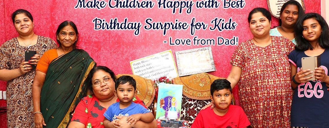 Birthday surprise for kids