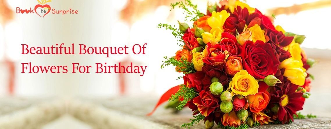 Bouquet of flowers for birthday