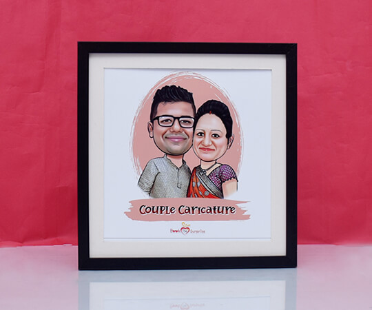 Caricature Photo Frame For Couple