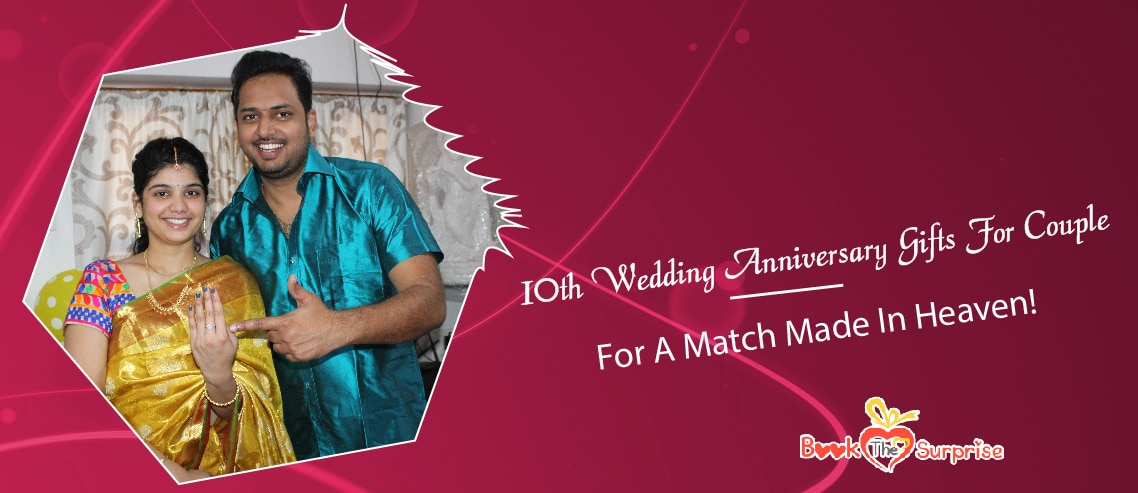 10th wedding anniversary gifts for couple