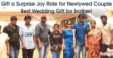 surprise joy ride for newlywed couple