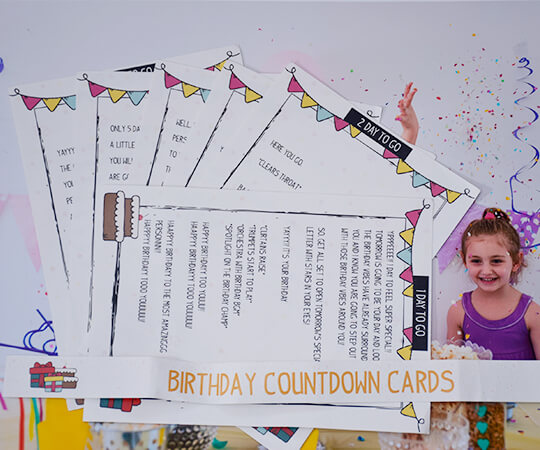 7 Birthday Countdown Letters 2