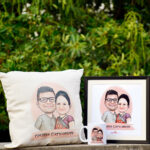 Caricature Couple Hamper