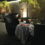 Decorous Rooftop dining by Poolside