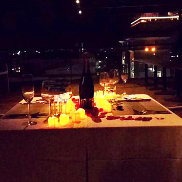 Ambient Rooftop Candle Light Dinner at Mall 21