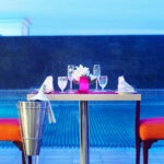 Plush Poolside Candle Light Dining at Sheraton 2