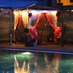 Candlelight Dinner at a Poolside Cabana