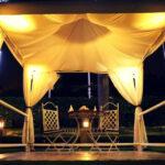 Flamboyant Cabana Candlelight Dining in Garden