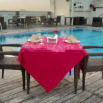 Open Air Pool Side Dining at Marigold