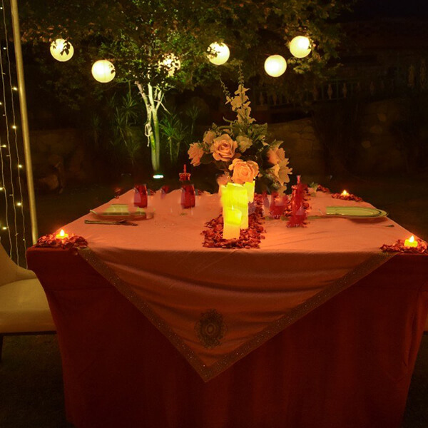 Romantic Fairy Tale Cabana Dinner