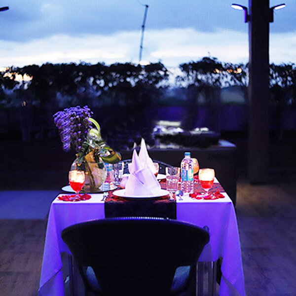 Sensuous Open Air Poolside Dining