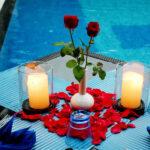Serene Poolside Dinner