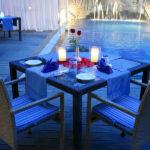 Serene Poolside Dinner 2
