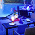 Serene Poolside Dinner 7