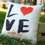 Love Abstract Cushion