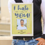 I Hate You Photo Frame