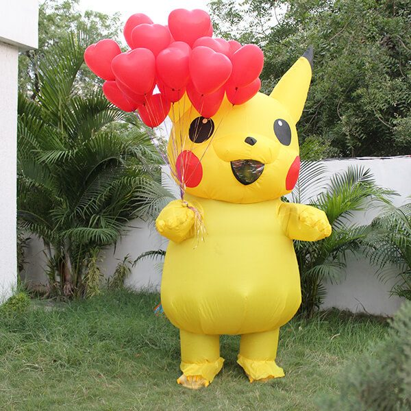 Pikachu with Balloon Surprise