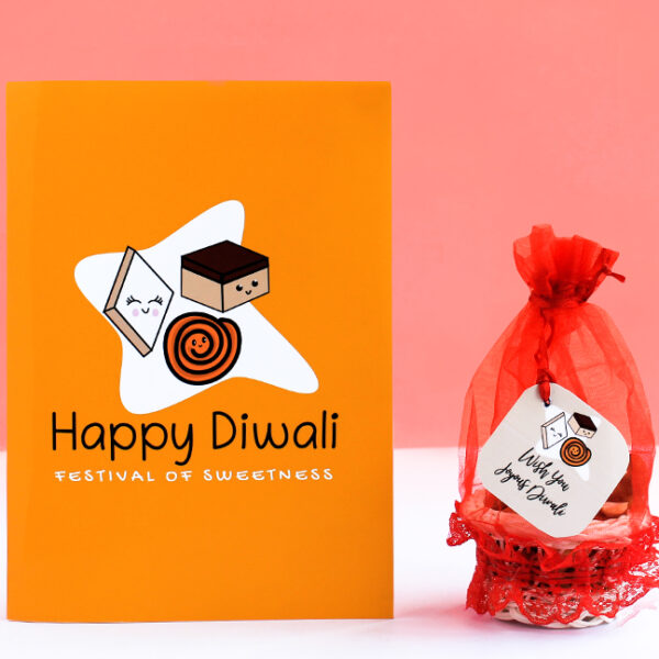 Diwali Greeting Card with Dry Fruits